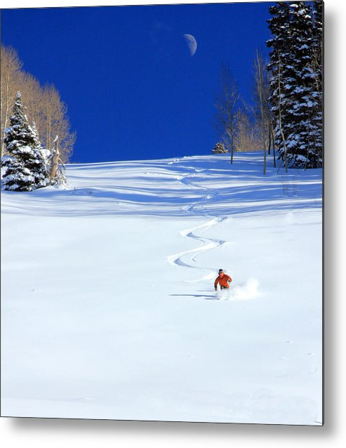 Skiing Metal Print featuring the photograph First Tracks by Johnny Adolphson