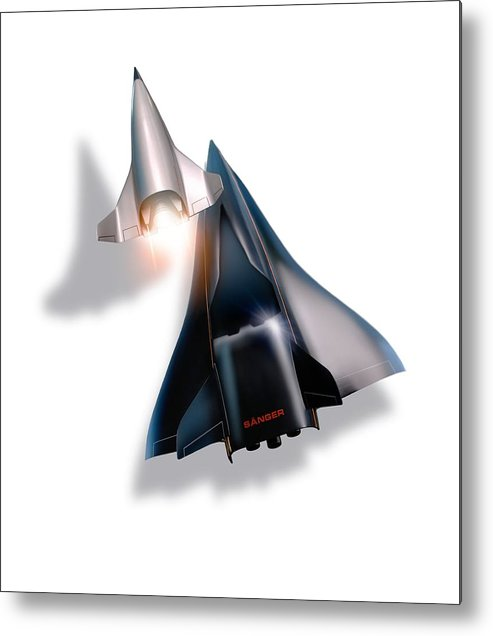 21st Century Metal Print featuring the photograph Saenger Horus Spaceplane, Artwork by Detlev Van Ravenswaay