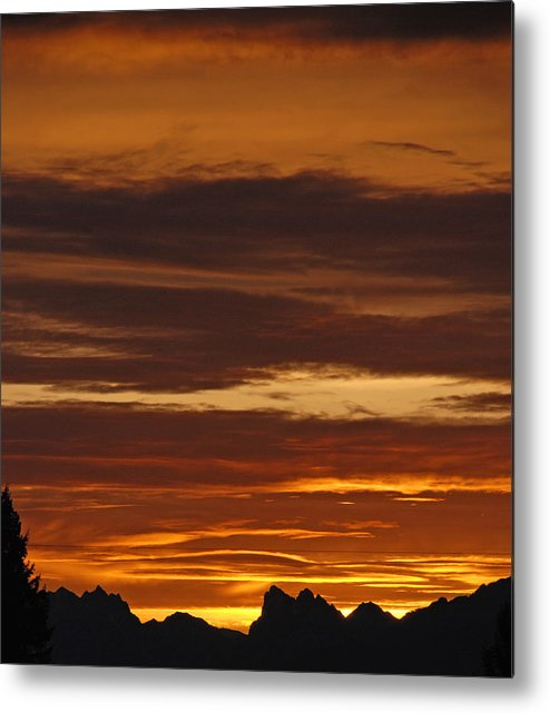 Mountains Metal Print featuring the photograph Cascade Mountains Sunrise 2 by Carol Eliassen