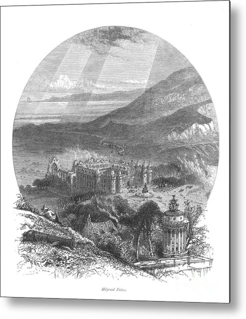 19th Century Metal Print featuring the photograph Holyrood Palace by Granger