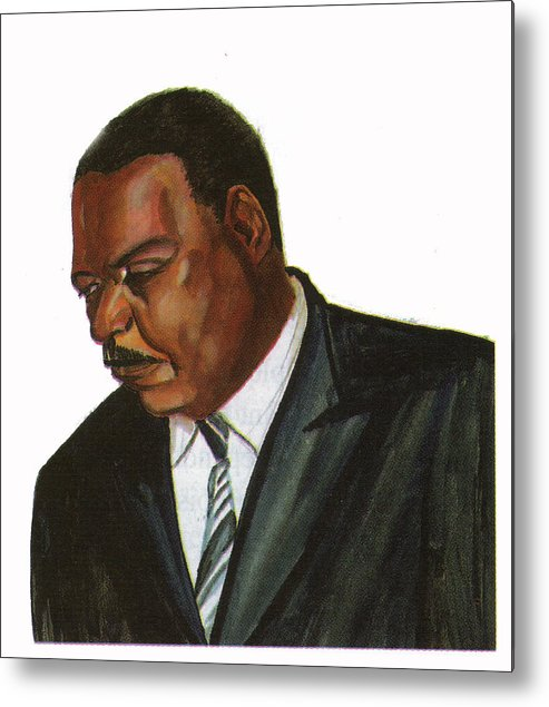 Portraits Metal Print featuring the painting Issa Hayatou by Emmanuel Baliyanga