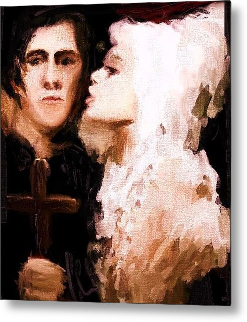 Metal Print featuring the painting Jo Justin Play by Jorge Quintanicho