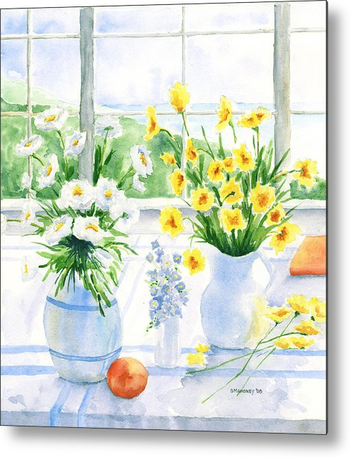 Flowers Metal Print featuring the painting Summer Light by Susan Mahoney
