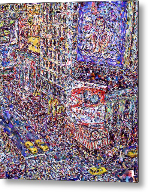 Nyc Metal Print featuring the digital art Times Square by Marilyn Sholin