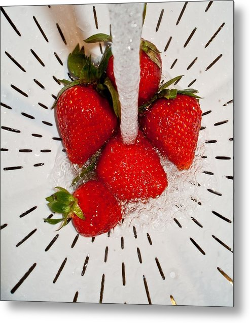 Metal Print featuring the photograph Water For Strawberries by David Pantuso