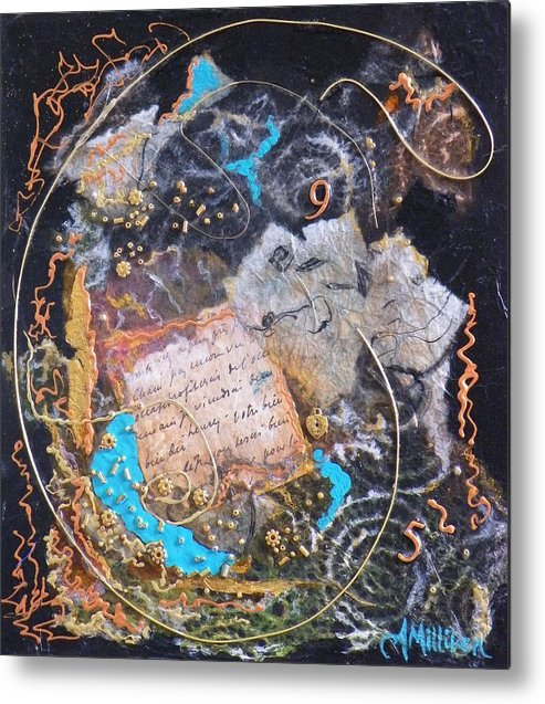 Abstract Metal Print featuring the painting 9 To 5 by Tara Milliken