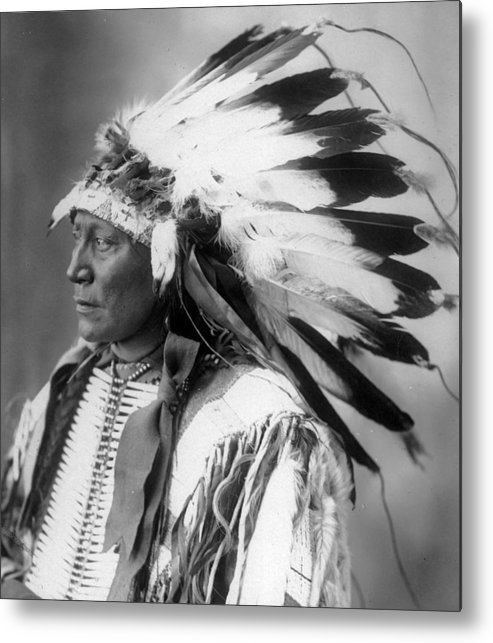 Chief Metal Print featuring the photograph Chief Hollow Horn Bear by Frank Rinehart