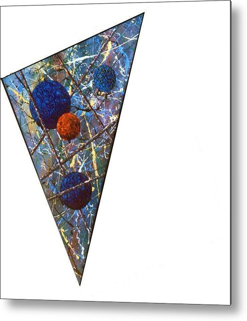Abstract Metal Print featuring the painting Continuum 3 by Micah Guenther