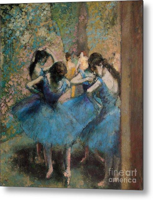 Dancers Metal Print featuring the painting Dancers In Blue by Edgar Degas