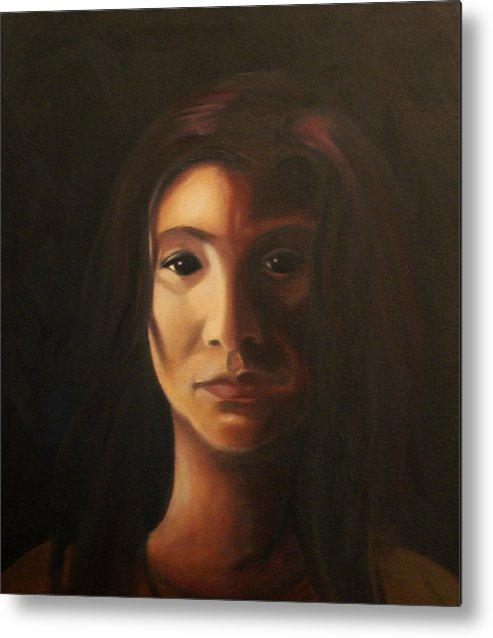 Woman In The Dark Metal Print featuring the painting Endure by Toni Berry