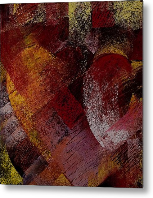 Hearts Metal Print featuring the painting Hearts by David Patterson