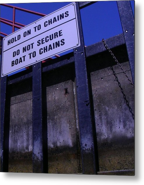 Lock Metal Print featuring the photograph Lock And Chains by Peter McIntosh