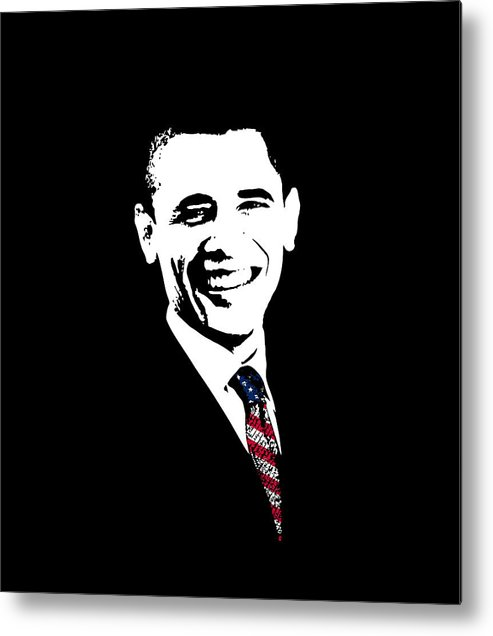 Obama Metal Print featuring the digital art Obama by War Is Hell Store