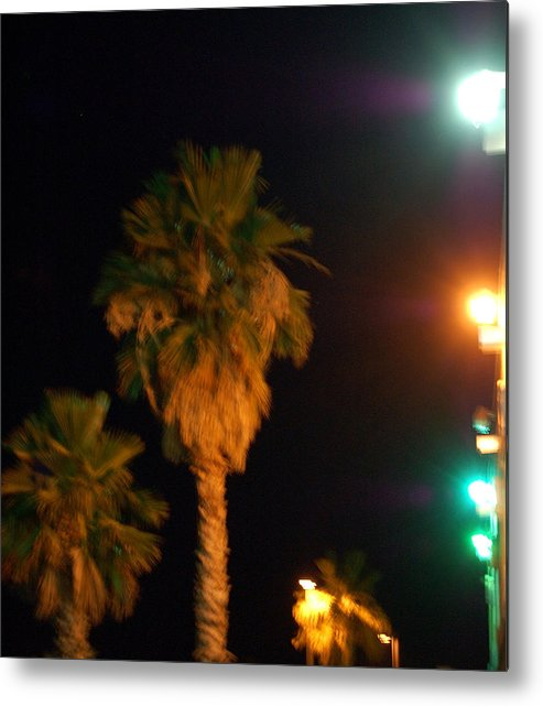 Palm Tress Metal Print featuring the photograph Palm Tree Glow by Heather S Huston