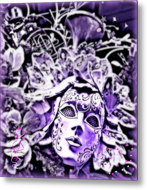 Purple Metal Print featuring the photograph Purple Party Passion by Amanda Eberly-Kudamik