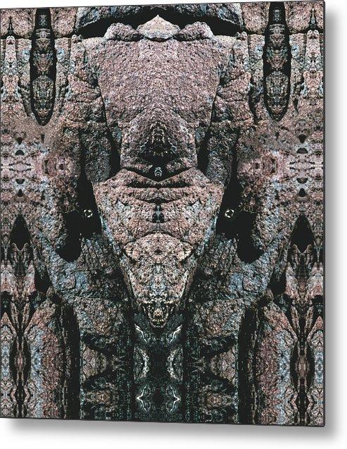 Rocks Metal Print featuring the digital art Rock Gods Elephant Stonemen Of Ogunquit by Nancy Griswold