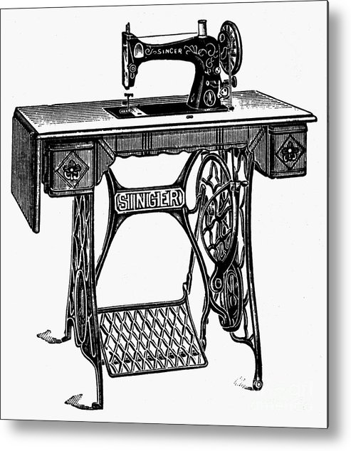 Singer Sewing Machine Metal Print By Granger Gorgeous Metal Singer Sewing Machine