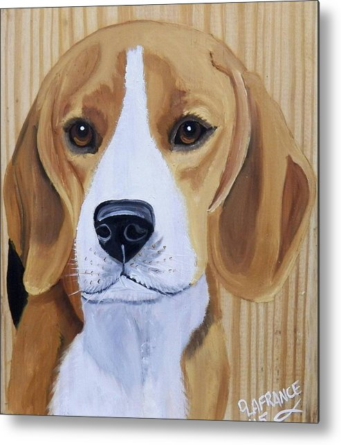 Beagle Metal Print featuring the painting Sweet Beagle by Debbie LaFrance