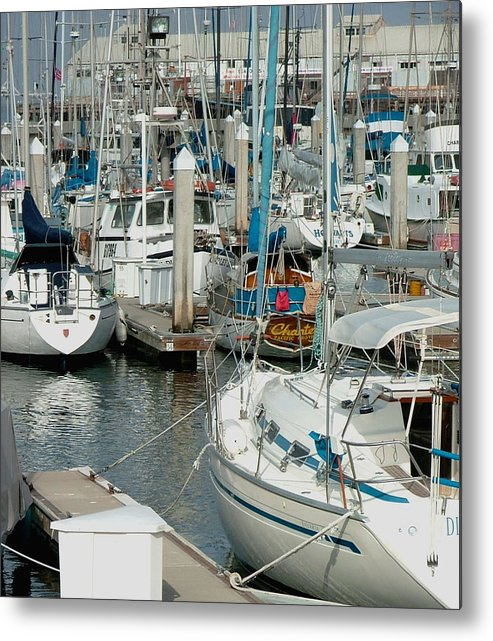 Boats Metal Print featuring the photograph Tied Up by Donna Thomas