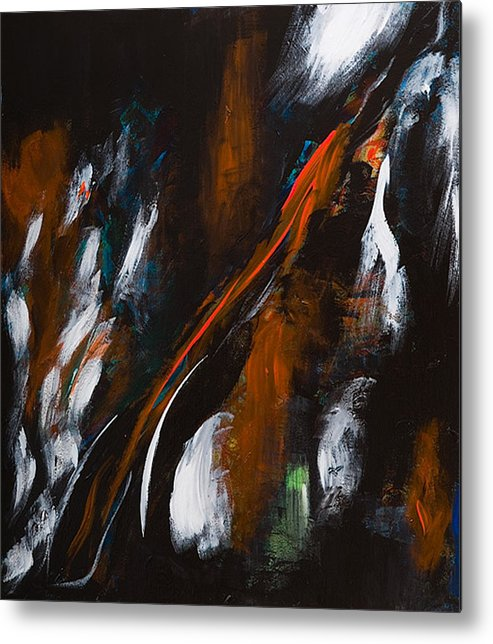Abstract Metal Print featuring the painting Untitled 85 by Vladimir Kezerashvili