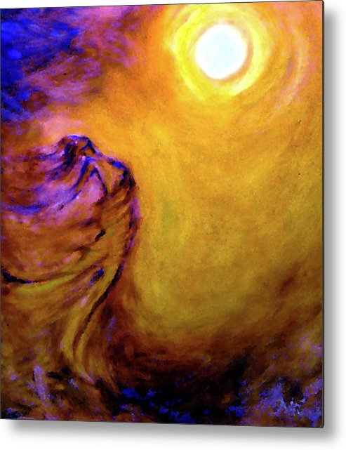 Expressions Not In Words Metal Print featuring the painting Untitled by Adri Sodenkamp