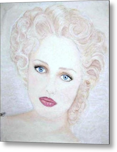 Face Metal Print featuring the drawing Virginia by Scarlett Royal