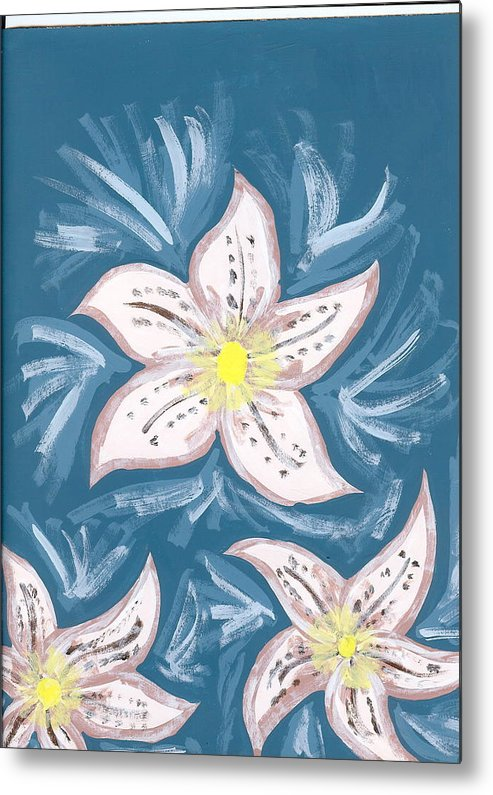 Flower Metal Print featuring the painting Becky by Laura Lillo
