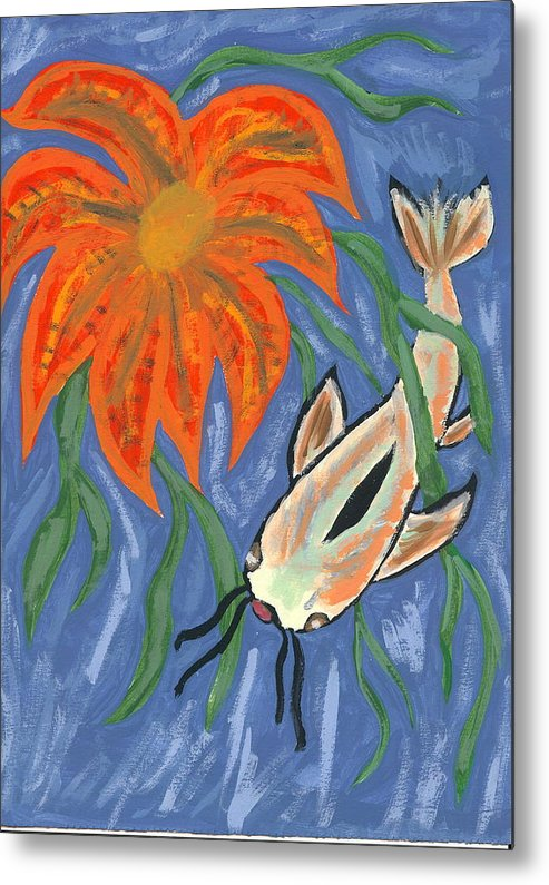 Flower Metal Print featuring the painting Belize by Laura Lillo