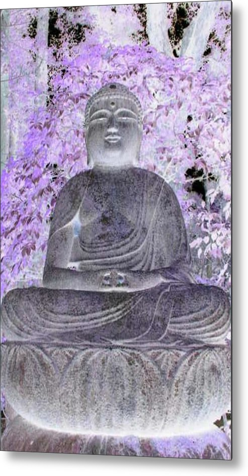 Surreal Metal Print featuring the photograph Surreal Buddha by Curtis Schauer