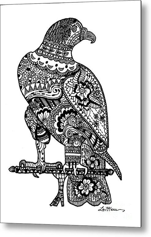 Bird Of Pray Metal Print featuring the digital art Falcon by Lamarr Kramer