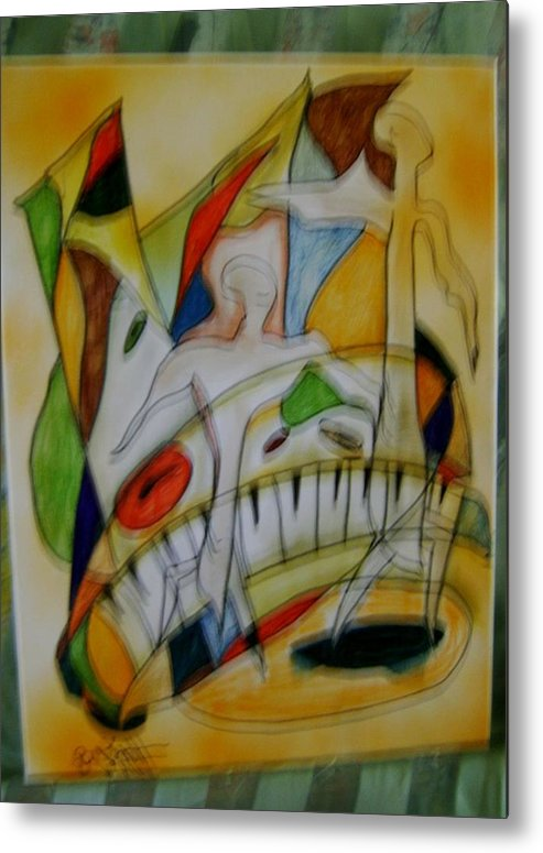 Acrylic Metal Print featuring the painting Music Is My Life by K