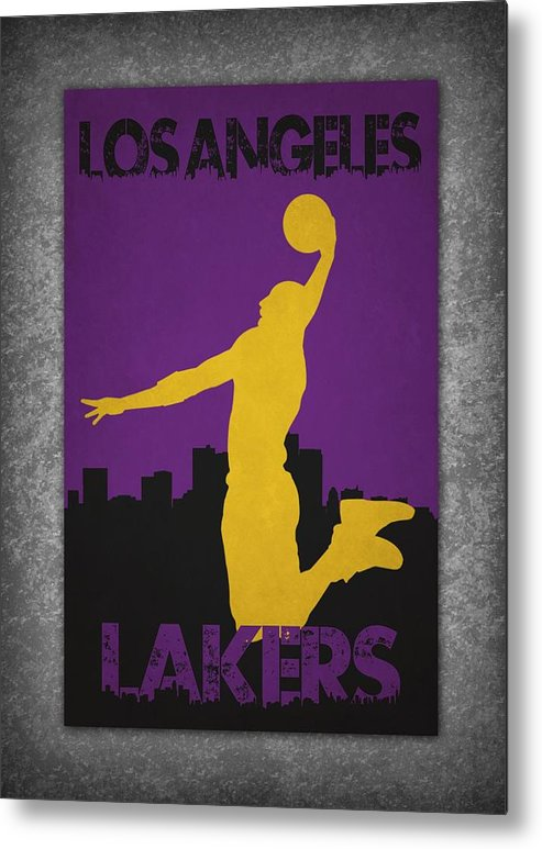 Lakers Metal Print featuring the photograph Los Angeles Lakers by Joe Hamilton