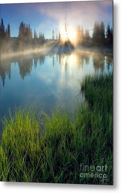 Fog Metal Print featuring the photograph First Light by Mike Dawson