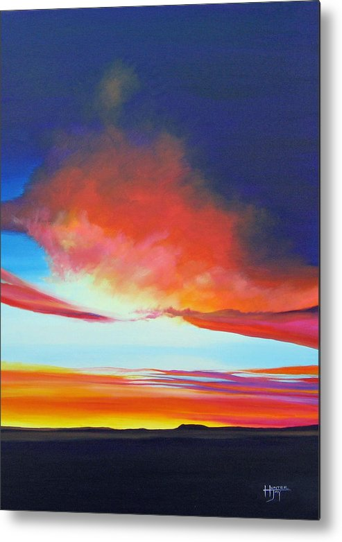 Landscape Metal Print featuring the painting The Long Way Home by Hunter Jay