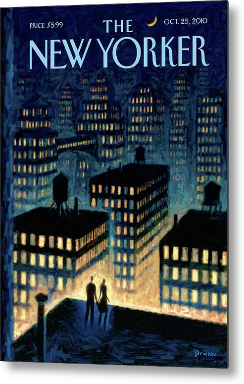 Twilight Metal Print featuring the painting New Yorker October 25th, 2010 by Eric Drooker