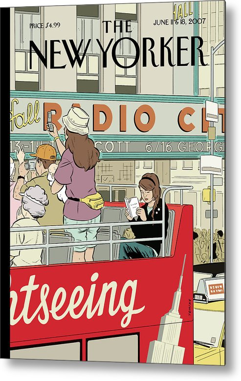 Big City Thrills Metal Print featuring the painting Big City Thrills by Adrian Tomine