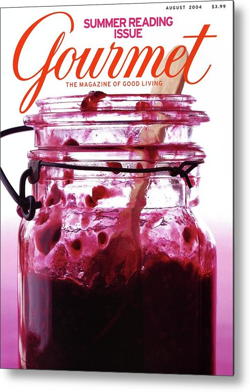 Food Metal Print featuring the photograph A Jar Of Skillet Blackberry Jam by Romulo Yanes