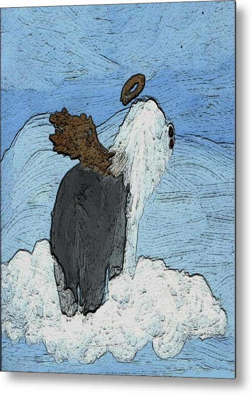 Old English Sheepdog Metal Print featuring the mixed media Angel 1 by Cathy Howard