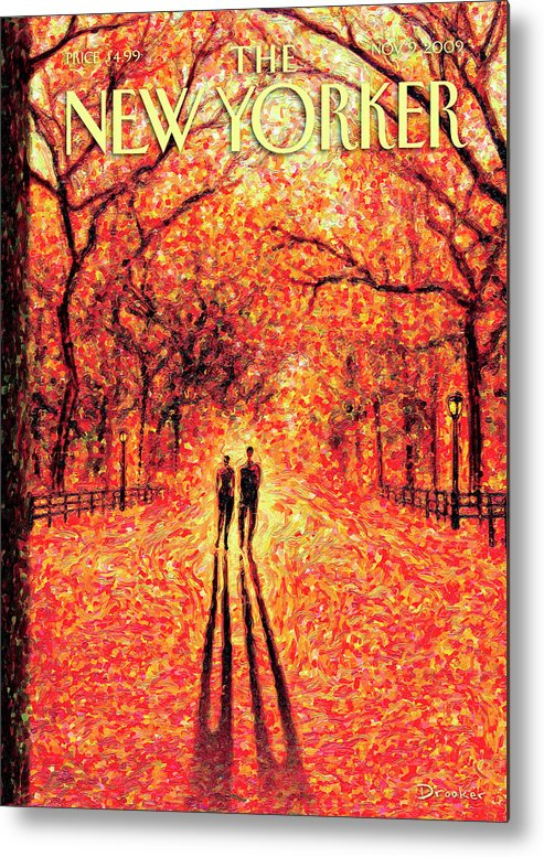 Nature Metal Print featuring the painting Autumn In Central Park by Eric Drooker