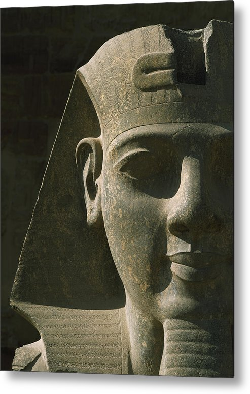 Cumming Metal Print featuring the photograph Detail Of Pharaoh Head At Entrance by Ian Cumming