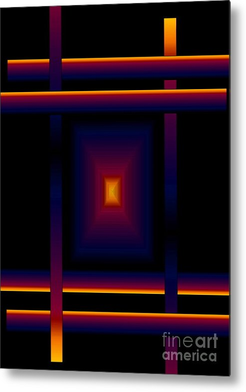 Abstract Metal Print featuring the digital art Focal Point by Gayle Price Thomas