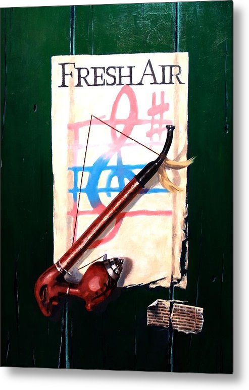 Still Life Metal Print featuring the painting Fresh Air by Jim Gola
