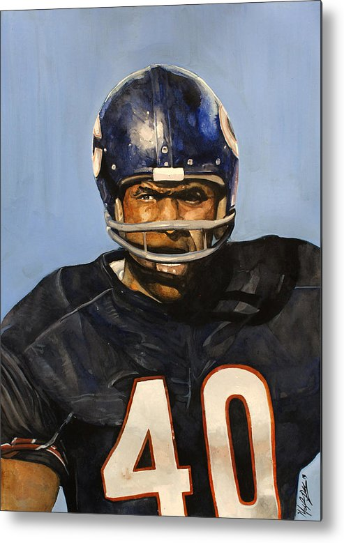 Gale Sayers Metal Print featuring the painting Gale Sayers by Michael Pattison