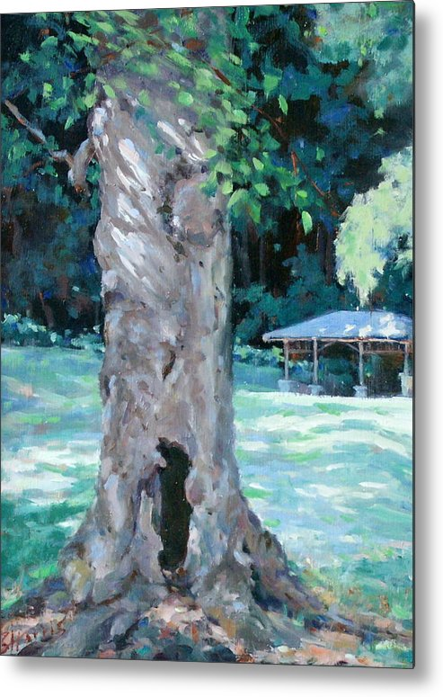 Percy Warner Park Metal Print featuring the painting Gentle Giant by Sandra Harris