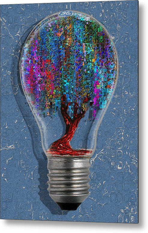 Digital Metal Print featuring the painting Just An Idea by Jack Zulli