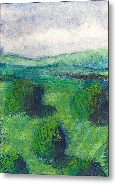 Landscape Metal Print featuring the painting Land 1 by James Raynor