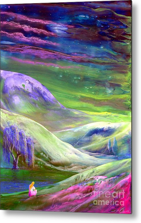 Moonlight Metal Print featuring the painting Moon Shadow by Jane Small