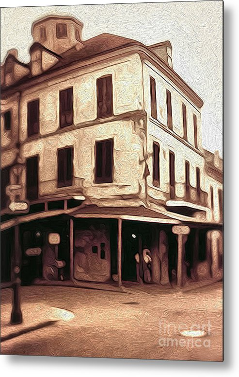 New Orleans Metal Print featuring the painting New Orleans - Old Absinthe Bar by Gregory Dyer