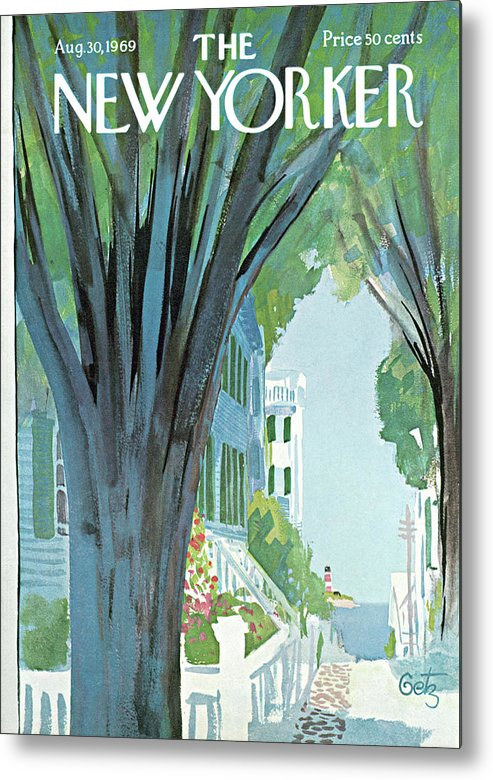 Arthur Getz Agt Metal Print featuring the painting New Yorker August 30th, 1969 by Arthur Getz