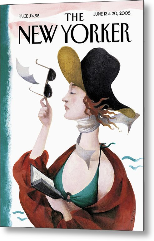Eustace Tilley Metal Print featuring the painting Debut On The Beach by Ana Juan